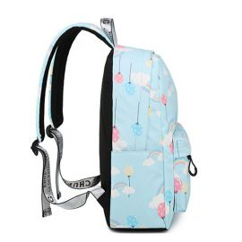 Light blue rainbow backpack