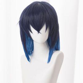 Kimetsu no Yaiba - Inosuke Hashibira short dark blue wig