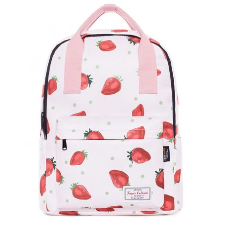 White strawberry backpack