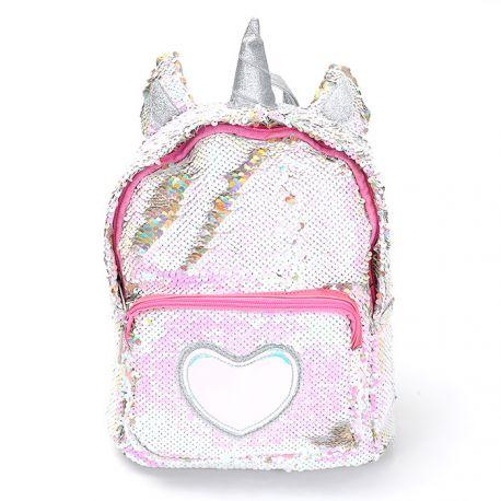 Small glittering unicorn backpack