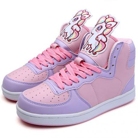 Cute pink unicorn sneakers