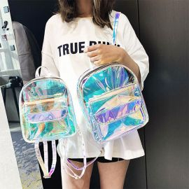 Shiny transparent backpack