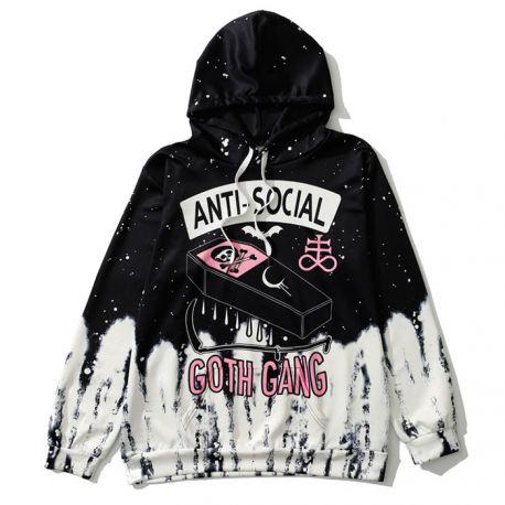 Anti-Social gothic hoodie
