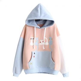 Cute light blue cat hoodie
