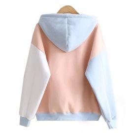 Cute light blue cat hoodie