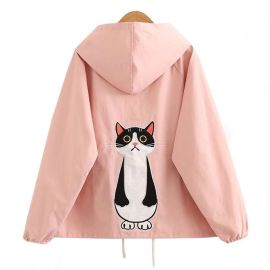 Cute cat pattern jacket