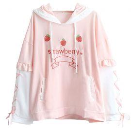 Pink strawberry hoodie