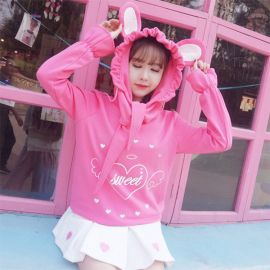 Pink hoodie with ears