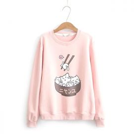 Cute japanese cat blouse
