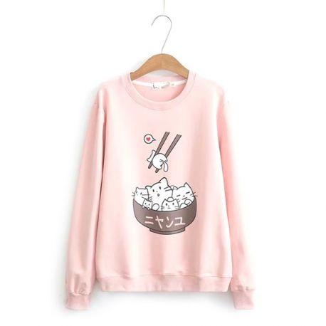 Cute japanese cat blouse