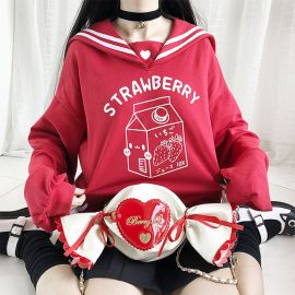 Red japanese sailor hoodie