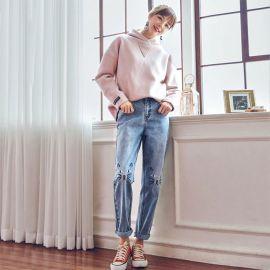 Cute cat pattern jeans