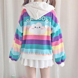 Colorful rainbow hoodie