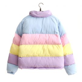 Colorful rainbow down jacket