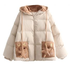 Cute kawaii down jacket with star ornaments