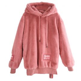 Cute pink plush jacket