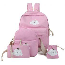 Cute cloud bag set of four