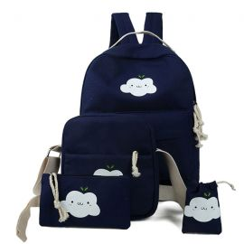 Cute cloud bag set of four
