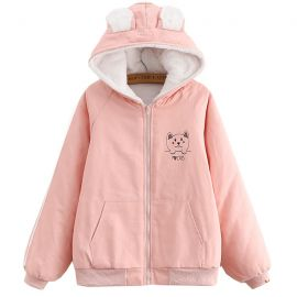 Cute lined i love cats jacket