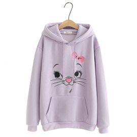 Cute soft cat hoodie