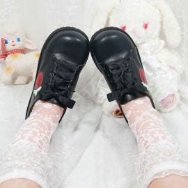Cosplay Lolita strawberry pattern shoes