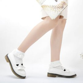 Cosplay Lolita heart shaped shoes