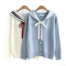 Hello girl sailor cardigan