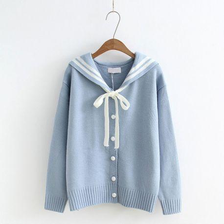 Hello girl sailor cardigan