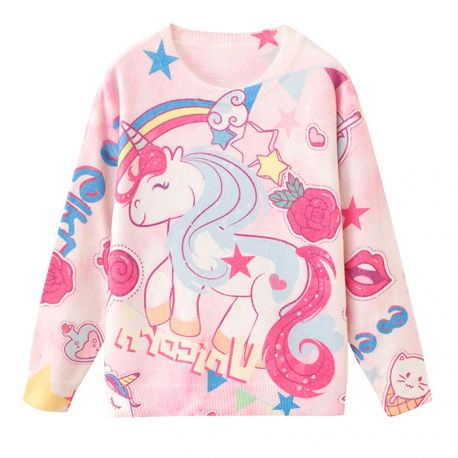 Cute colorful unicorn sweater