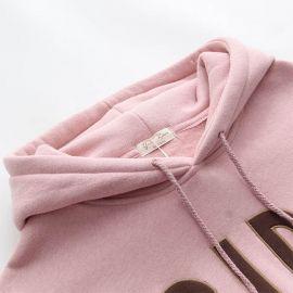 Pink hoodie with reindeer horns