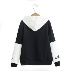 Black/white japanese cat hoodie