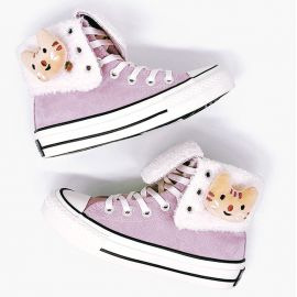 Cute purple lined sneakers