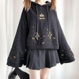 Black space travel hoodie