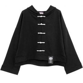 Black retro style hoodie