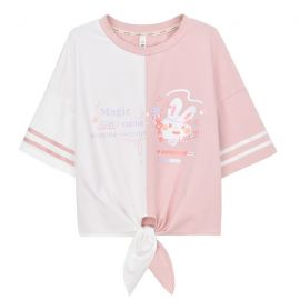 Pink/white rabbit T-shirt