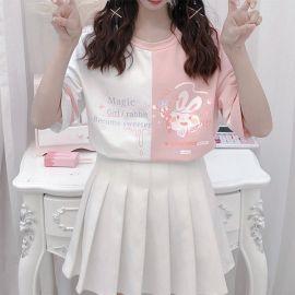 Pink/white rabbit T-shirt