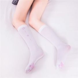 Paw patterned long socks