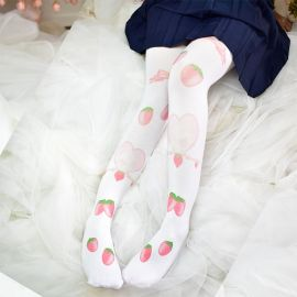 Strawberry patterned paw socks