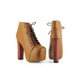 Women's fashion ankle high heel shoes