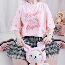 Pink double cupids T-shirt
