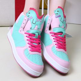 Kawaii dinosaur sneakers