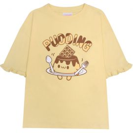 Yellow pudding T-shirt