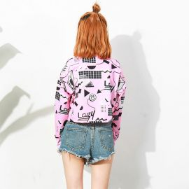 Harajuku style pink short blouse