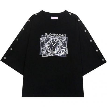 Black clock of destiny T-shirt