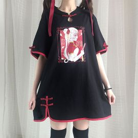 Long anime style T-shirt