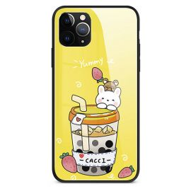Yellow milk tea iPhone cover