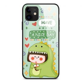 Green dinosaur iPhone cover