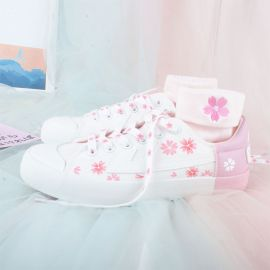 Pink sakura sneakers