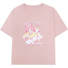 Pink sweet cure anime T-shirt