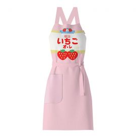 Japanese strawberry patterned apron